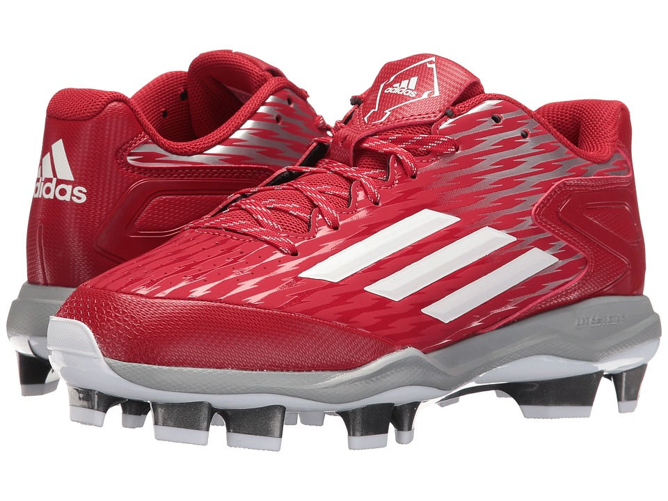 adidas - PowerAlley 3 TPU (Power Red/White/Grey Metallic) Women's Shoes