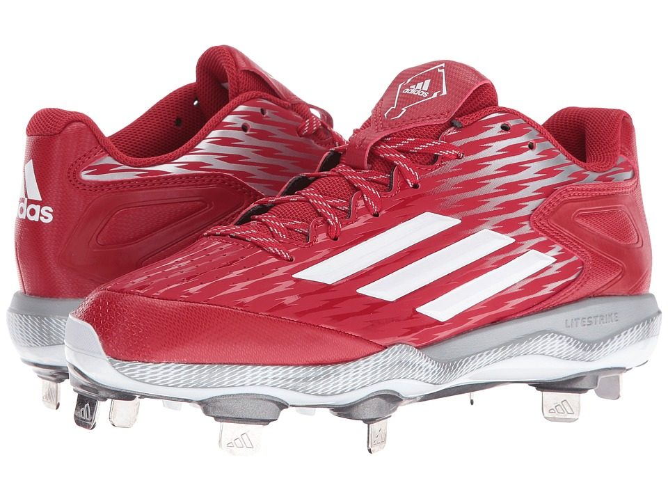 adidas - PowerAlley 3 (Power Red/White/Grey Metallic) Women's Shoes