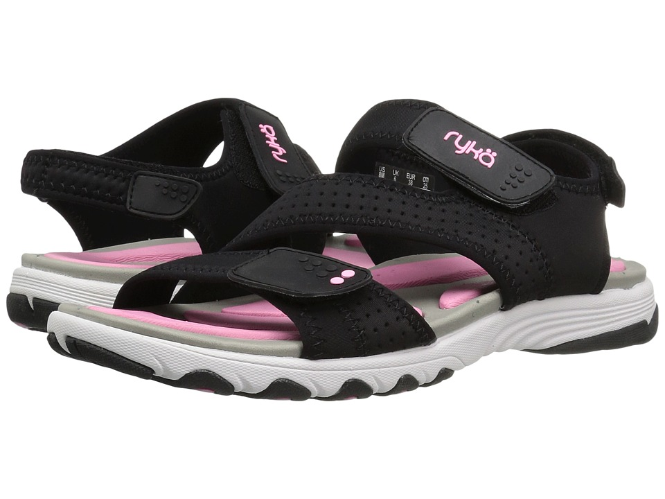 Ryka - Dominica (Black/Cotton Candy/Chrome Silver) Women's Shoes