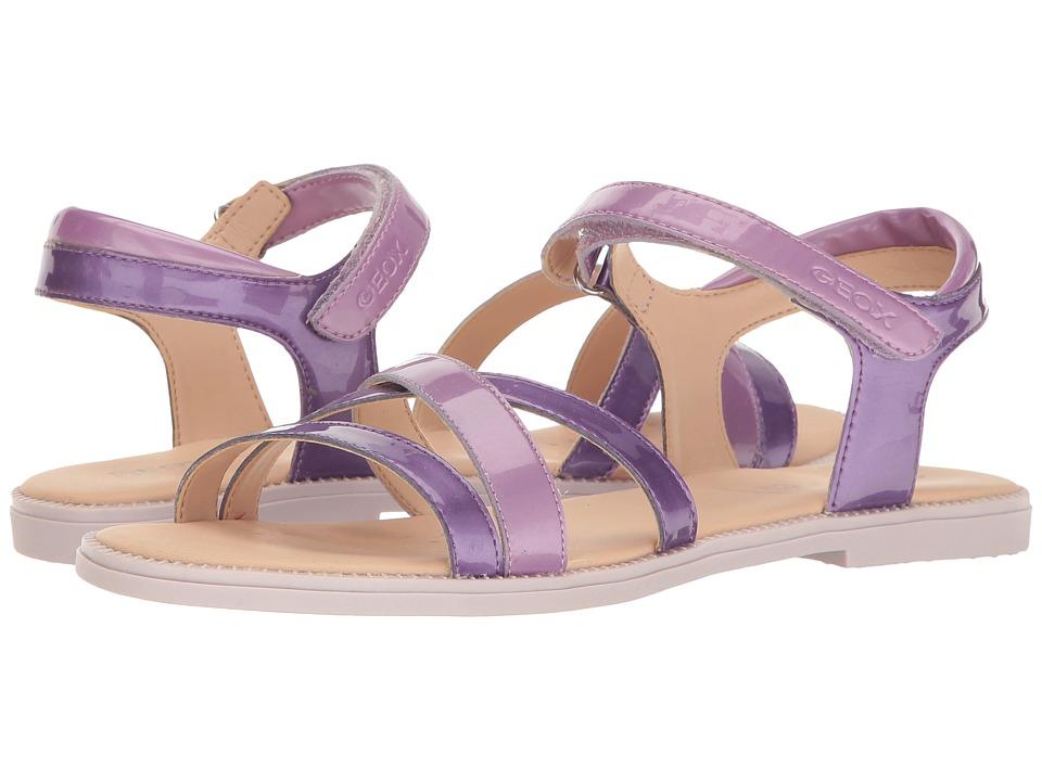 Geox Kids - Jr Sandal Karly Girl 11 (Big Kid) (Light Violet/Lilac) Girl's Shoes