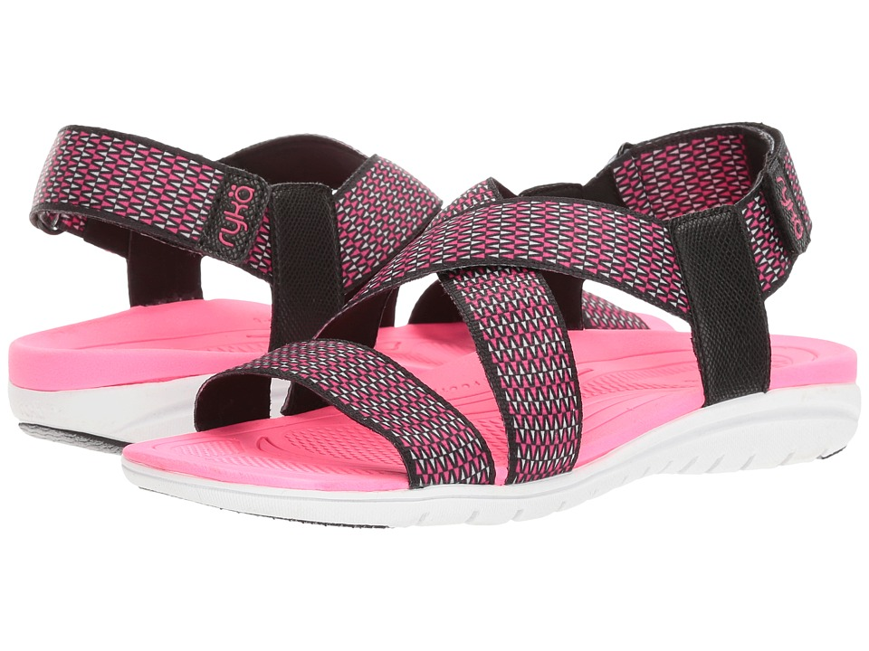 Ryka - Belmar (Black/Summer Grey/Neon Flamingo) Women's Shoes