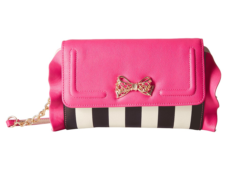 Betsey Johnson - Flouncin' Around Flap Wallet on a String (Stripe) Wallet Handbags
