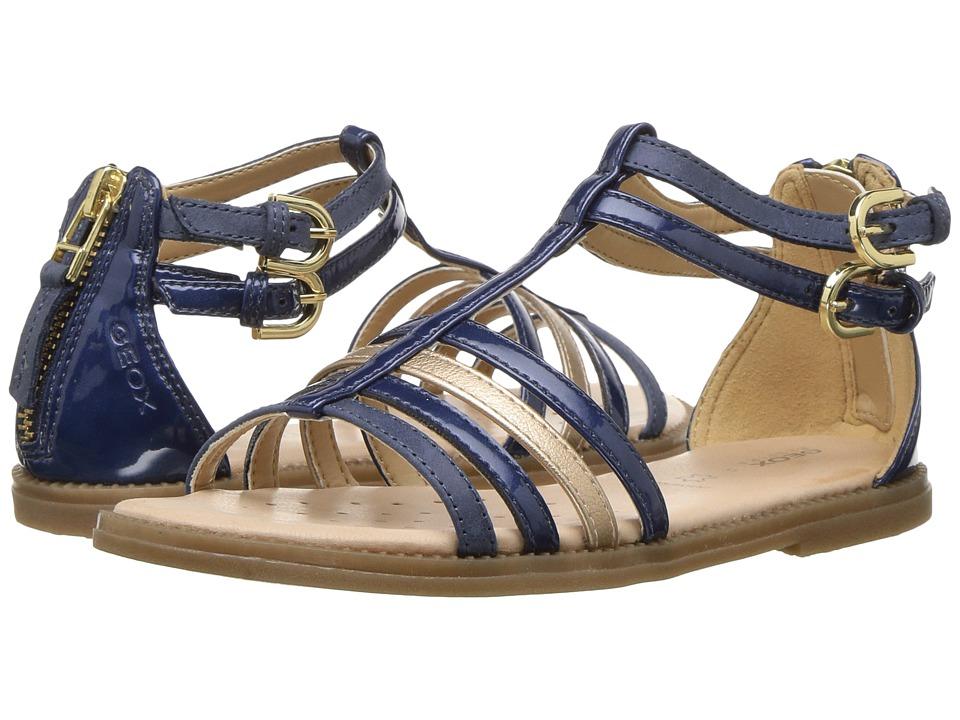 Geox Kids - Jr Sandal Karly Girl 13 (Little Kid) (Navy) Girl's Shoes