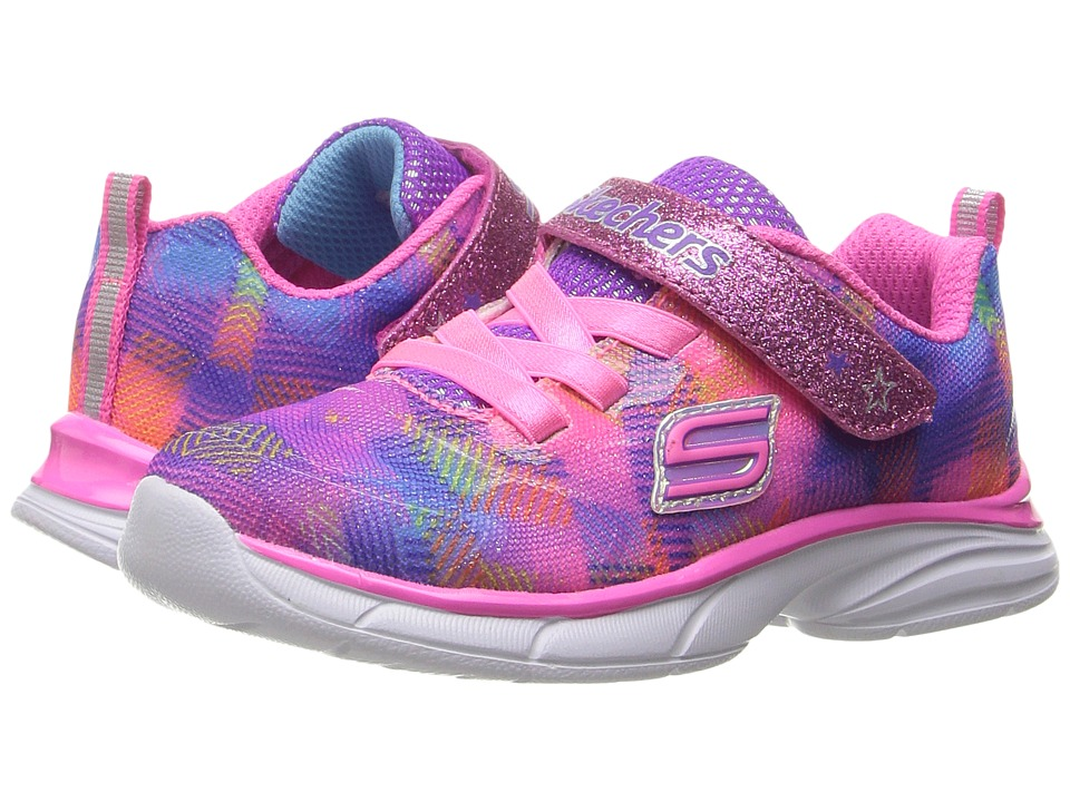 SKECHERS KIDS - Spirit Sprintz (Toddler) (Neon Pink/Multi) Girl's Shoes