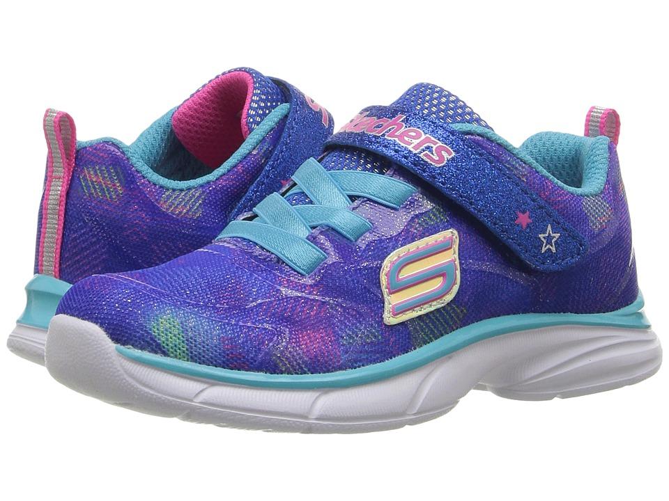 SKECHERS KIDS - Spirit Sprintz (Toddler) (Blue/Multi) Girl's Shoes