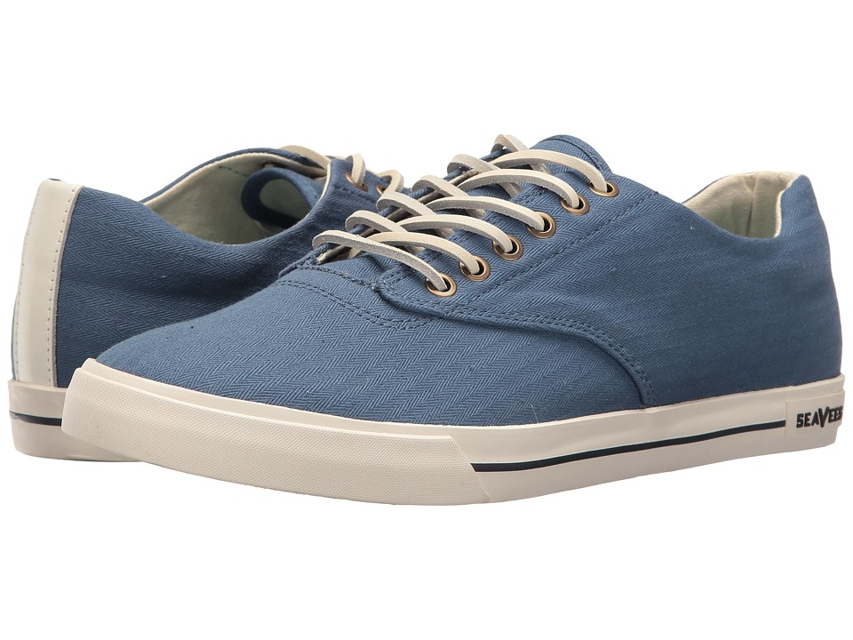 SeaVees - 08/63 Hermosa Herringbone (Riviera Blue) Men's Shoes