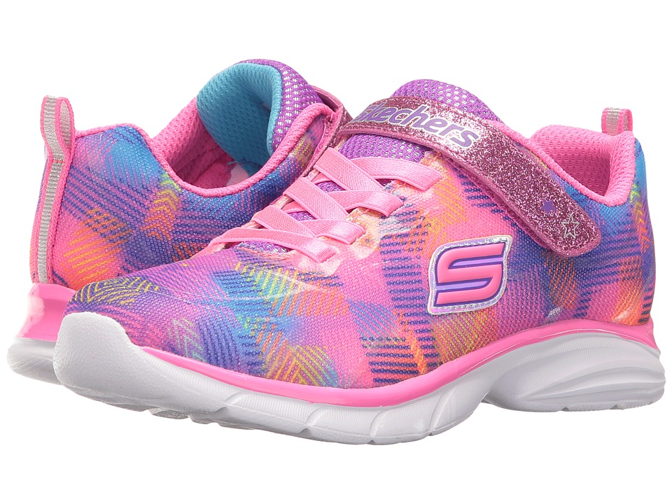 SKECHERS KIDS - Spirit Sprintz Rainbow Razzles (Little Kid/Big Kid) (Neon Pink/Multi) Girl's Shoes
