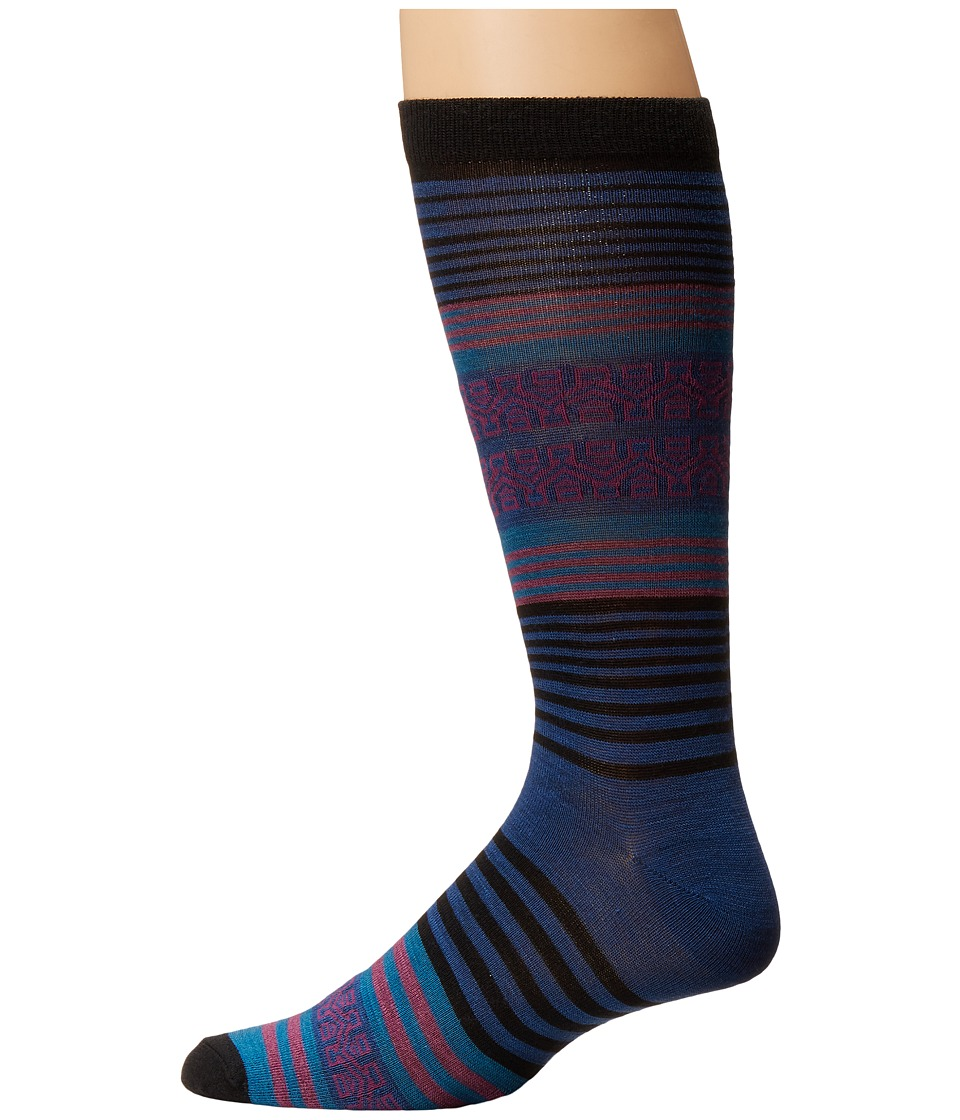 UGG - Merino Wool Stripe Crew Sock (Moonstone Stripe) Men's Crew Cut Socks Shoes