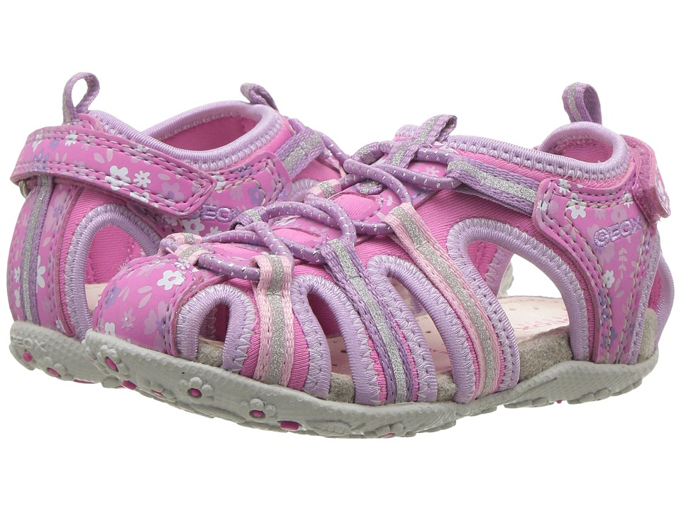 Geox Kids - Jr Roxanne 38 (Toddler/Little Kid) (Fuchsia/Lilac) Girl's Shoes