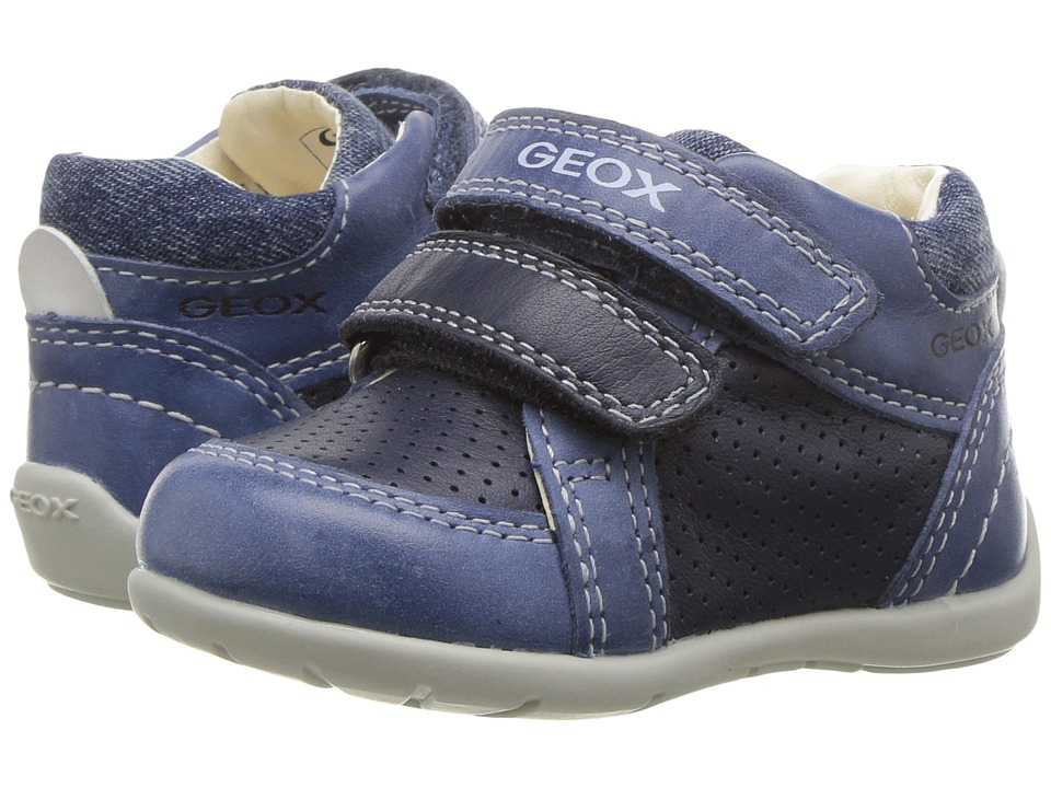 Geox Kids - Baby Kaytan Boy 24 (Infant/Toddler) (Navy/Light Blue) Boy's Shoes