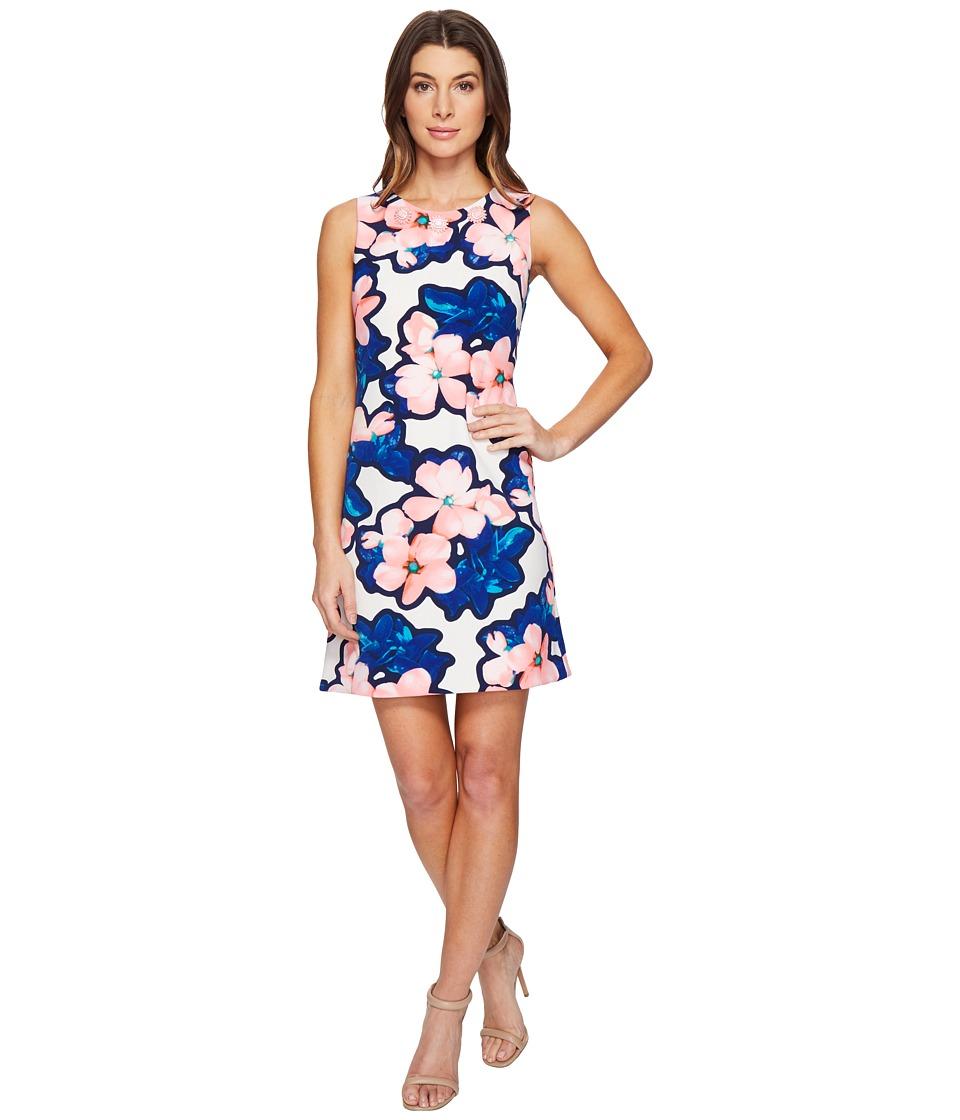 Christin Michaels - Dima Sleeveless Floral Dress (Watermelon/Blue) Women's Dress