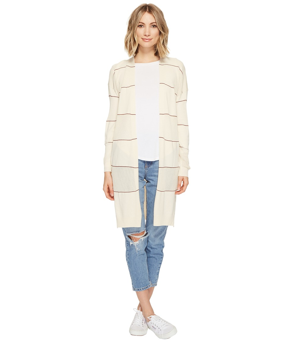 Culture Phit - Monroe Striped Cardigan (Beige) Women's Sweater