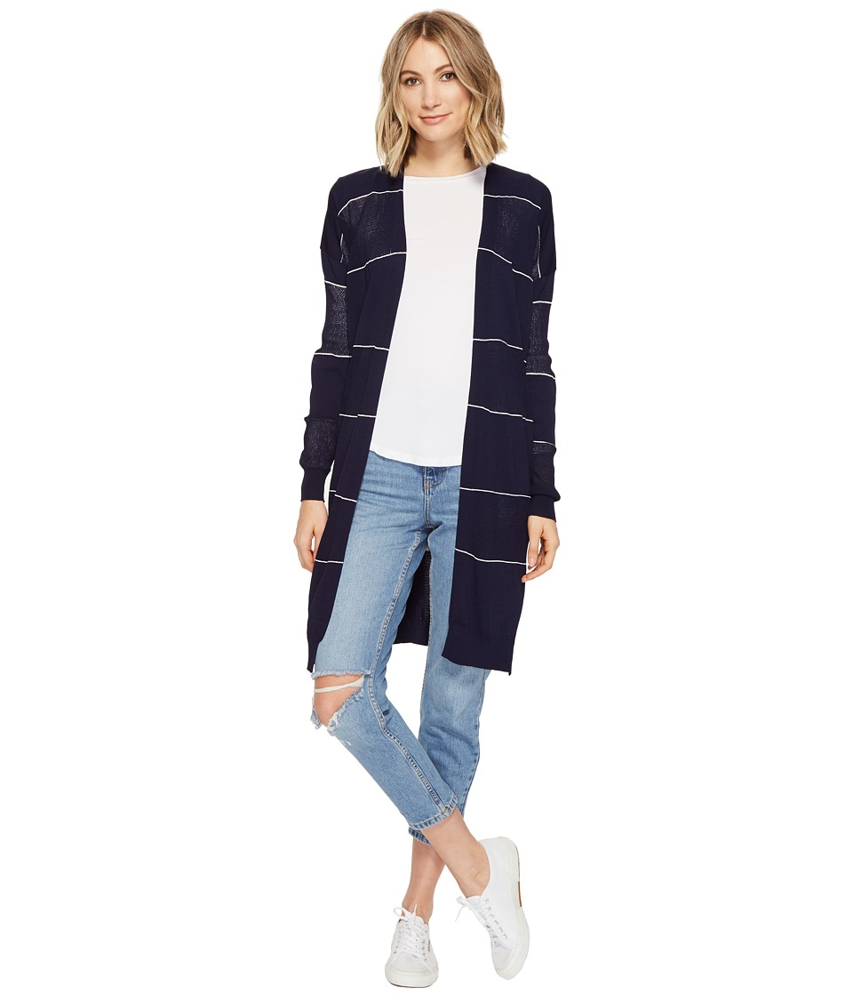 Culture Phit - Monroe Striped Cardigan (Navy) Women's Sweater