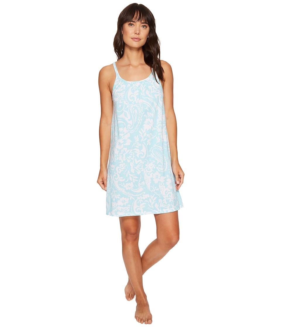 LAUREN Ralph Lauren - Chemise Gown (Turquoise Paisley) Women's Pajama