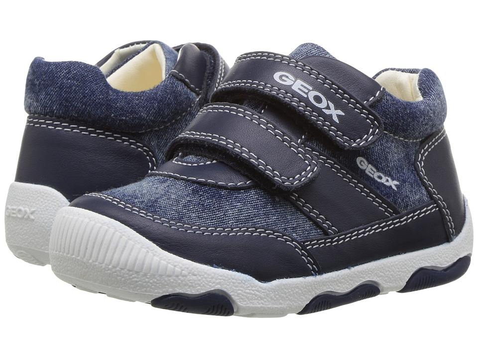Geox Kids - Baby New Balu Boy 5 (Infant/Toddler) (Navy) Boy's Shoes