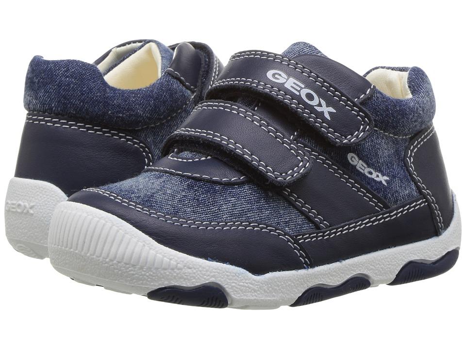 Geox Kids - Baby New Balu Boy 5 (Infant/Toddler) (Navy) Boy's Shoes