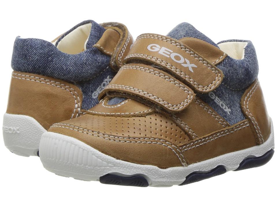 Geox Kids - Baby New Balu Boy 5 (Infant/Toddler) (Caramel/Navy) Boy's Shoes