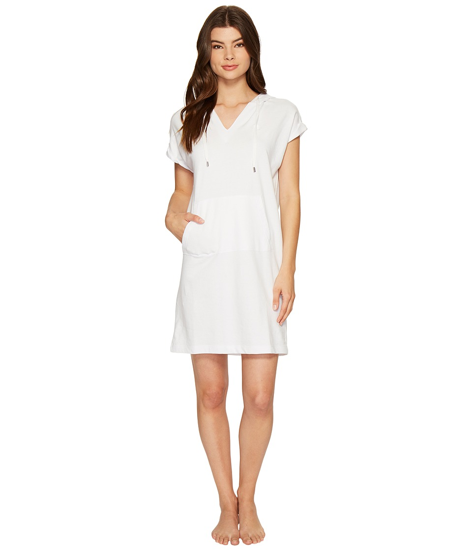 LAUREN Ralph Lauren - Brushed Terry Lounger (White) Women's Pajama
