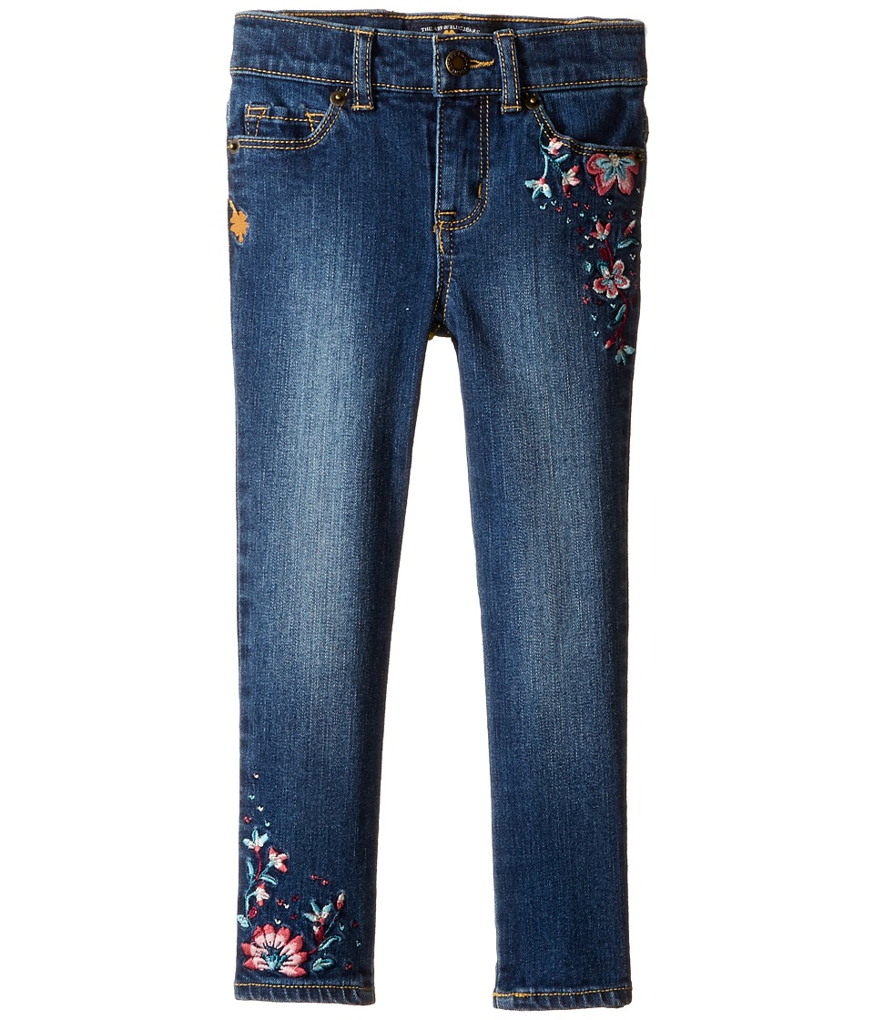 Lucky Brand Kids - Zoe Jeans with Embroidery in Blue Wash (Toddler) (Blue Wash) Girl's Jeans