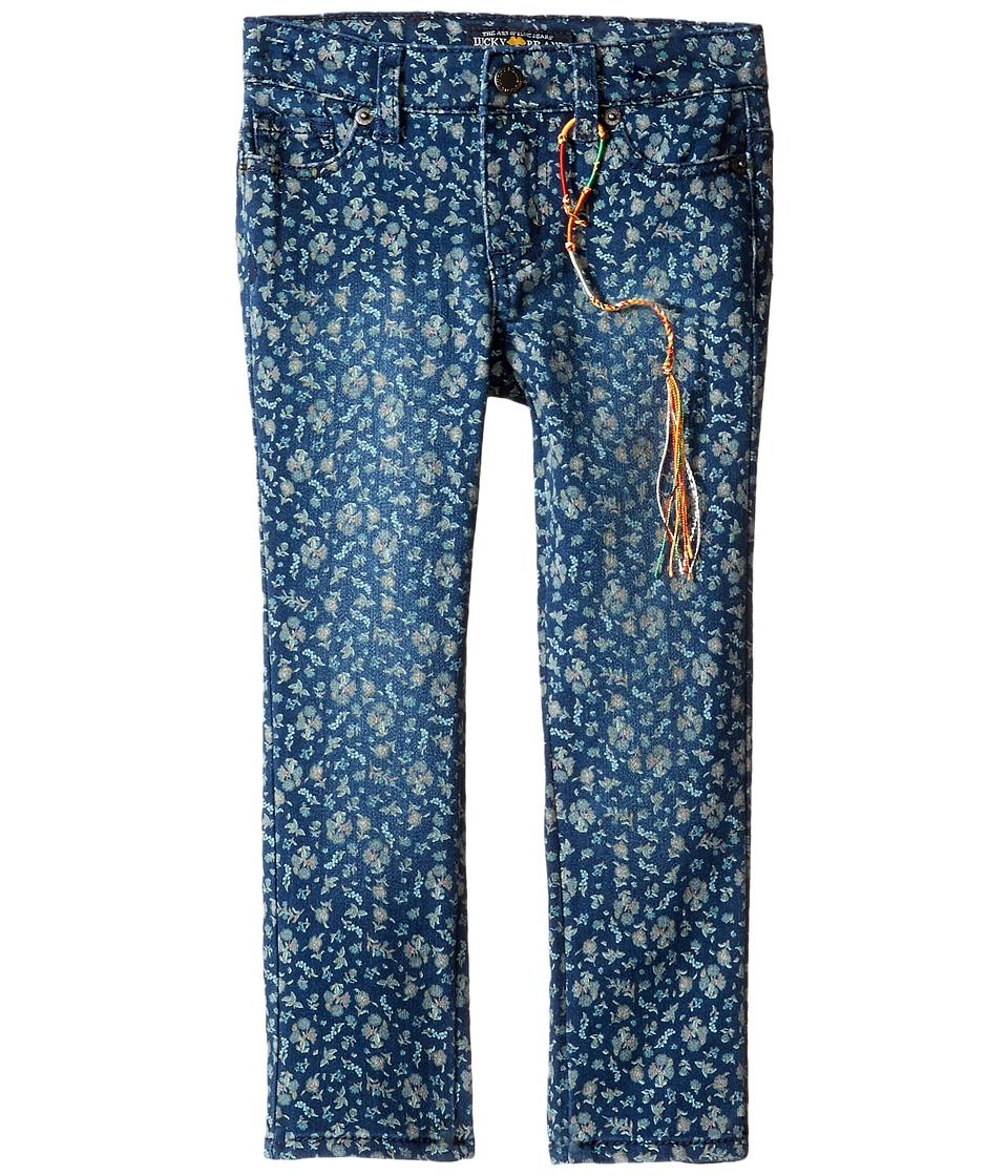 Lucky Brand Kids - Printed Zoe Jeans in Dark Indigo (Toddler) (Dark Indigo) Girl's Jeans