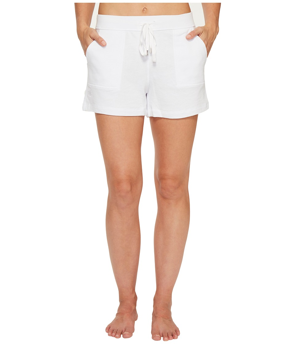 LAUREN Ralph Lauren - Brushed Terry Boxer Shorts (White) Women's Pajama