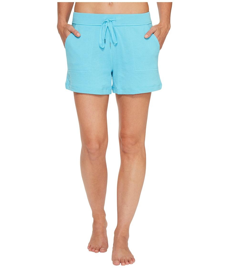 LAUREN Ralph Lauren - Brushed Terry Boxer Shorts (Bright Turquoise) Women's Pajama