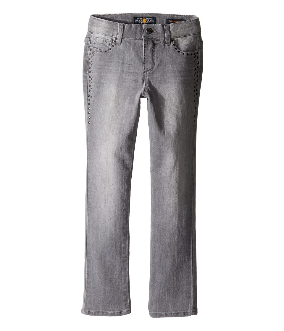 Lucky Brand Kids - Stretch Denim Zoe Jeans in Gray Wash (Little Kids) (Gray Wash) Girl's Jeans