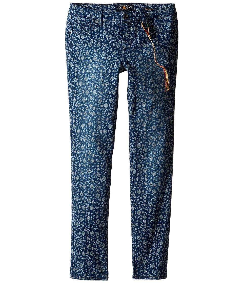 Lucky Brand Kids - Printed Zoe Jeans in Dark Indigo (Big Kids) (Dark Indigo) Girl's Jeans