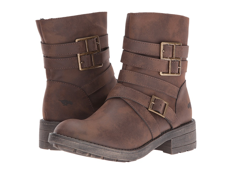 Rocket Dog - Throttle (Brown Graham) Women's Pull-on Boots