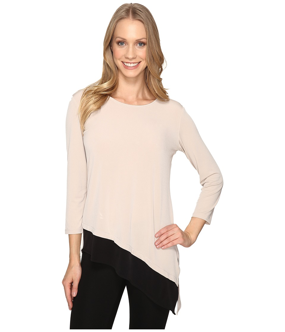 Calvin Klein - Double Layered Angle Top (Latte) Women's Clothing