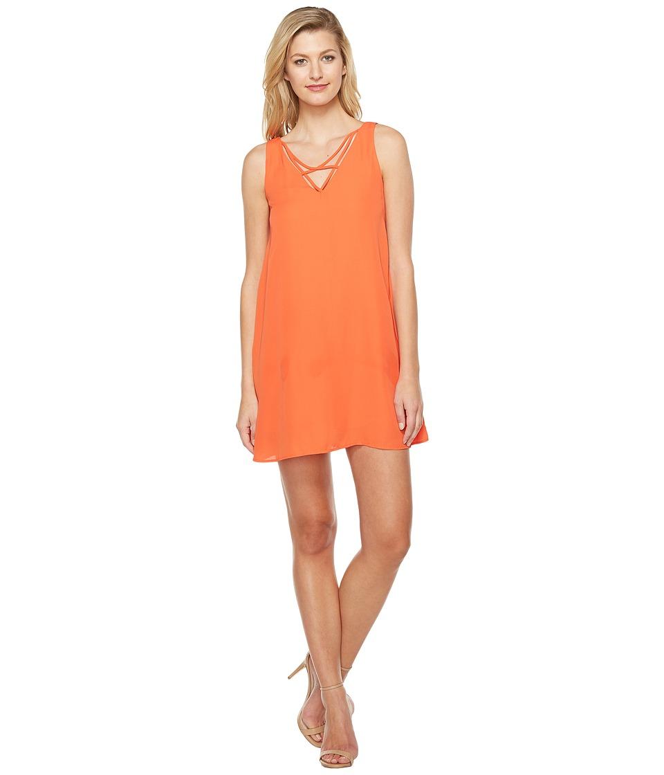 Brigitte Bailey Achelle Sleeveless Dress with Strap Detail (Grapefruit) Women