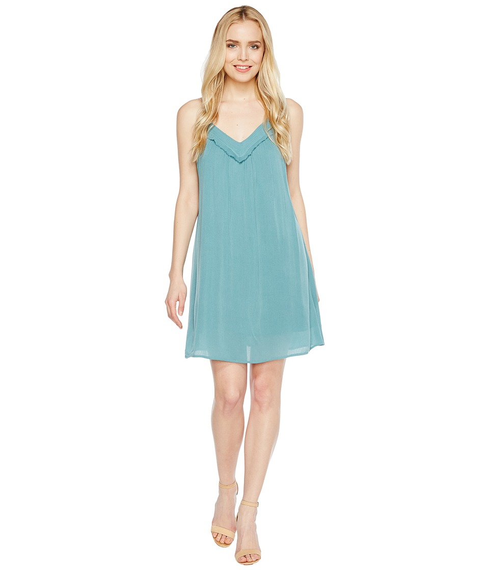 Brigitte Bailey - Ila Spaghetti Strap Dress with Crochet Detail (Turquoise) Women's Dress