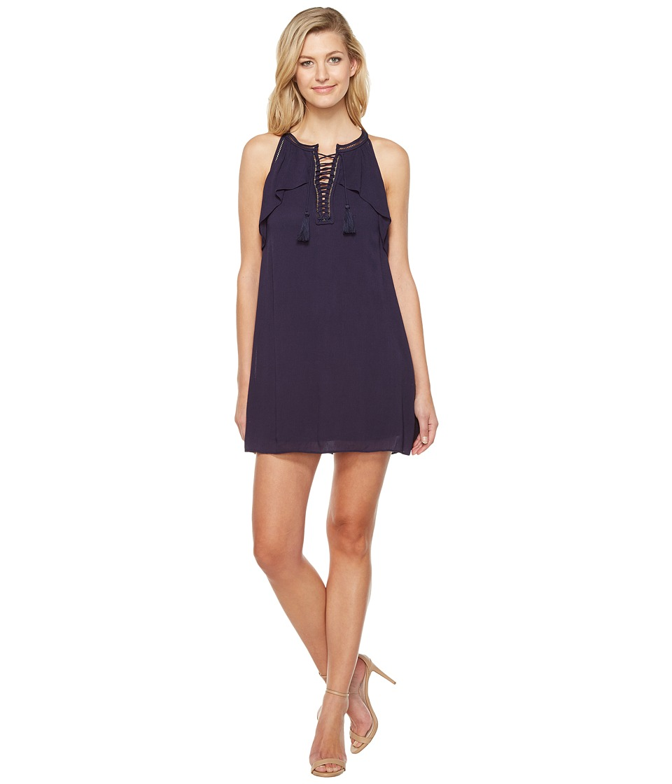 Brigitte Bailey - Ismaray Sleeveless Tie-Front Dress (Navy) Women's Dress