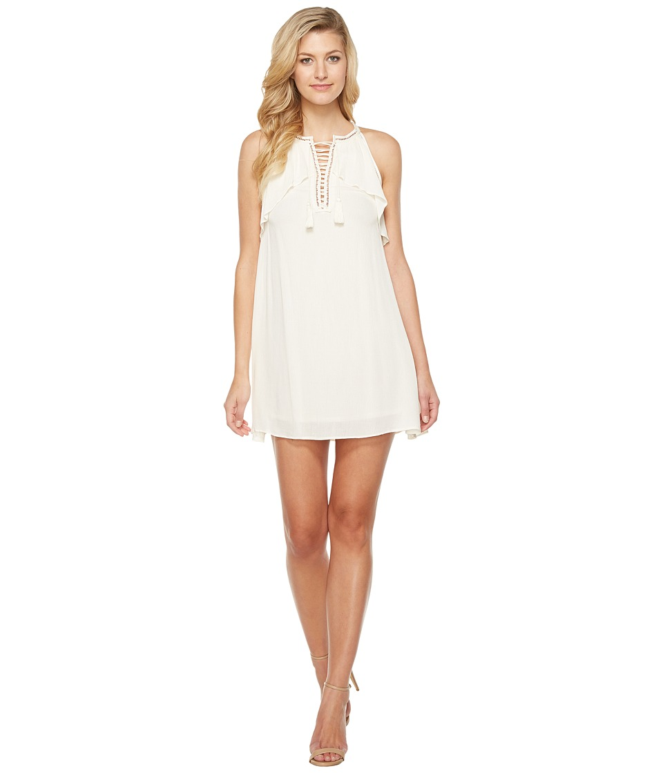 Brigitte Bailey - Ismaray Sleeveless Tie-Front Dress (Vanilla) Women's Dress