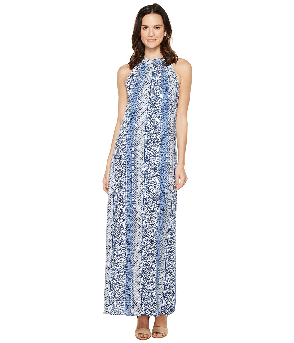 Brigitte Bailey - Arron Printed Maxi Dress (Blue) Women's Dress