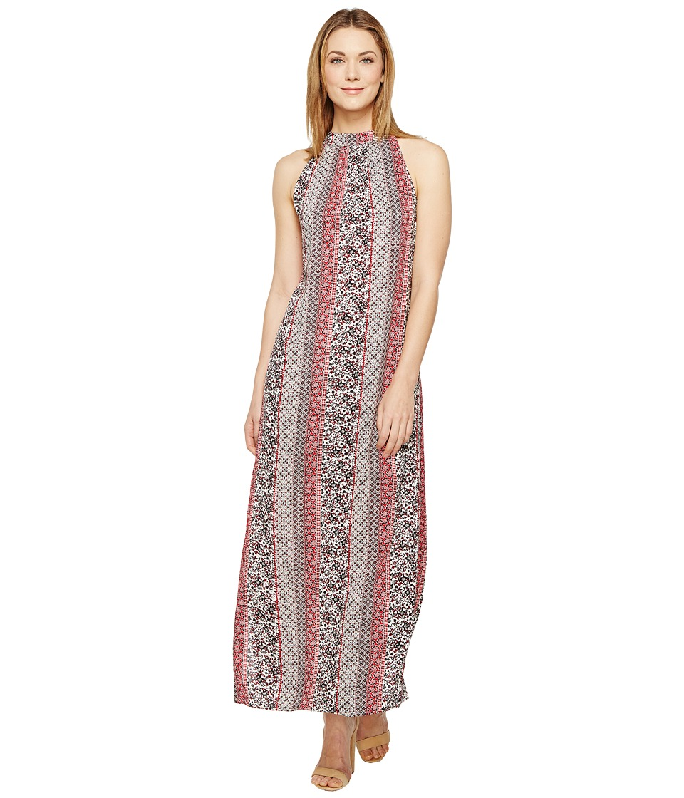 Brigitte Bailey Arron Printed Maxi Dress (Red) Women