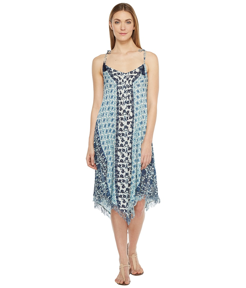 Brigitte Bailey - Maribel Printed V-Neck Dress (Blue/Navy) Women's Dress