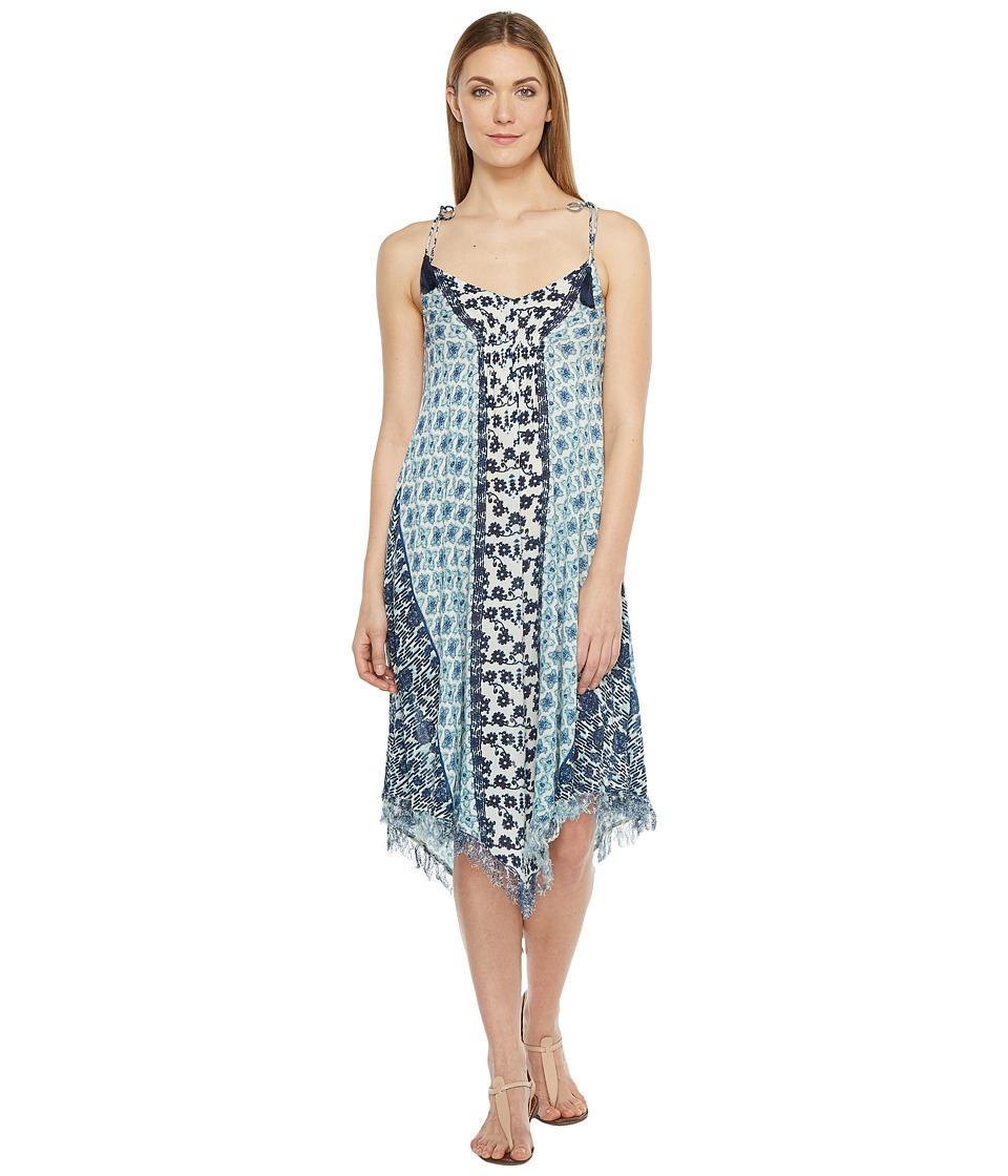Brigitte Bailey - Maribel Printed V-Neck Dress (Blue/Navy) Women's Dress