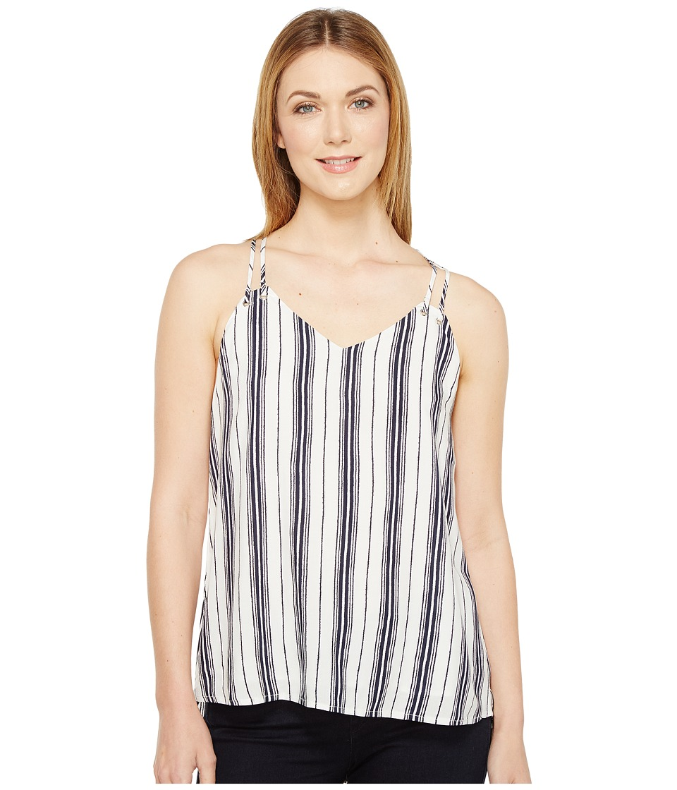 Brigitte Bailey - Braelyn Spaghetti Strap Striped Top (Navy) Women's Clothing