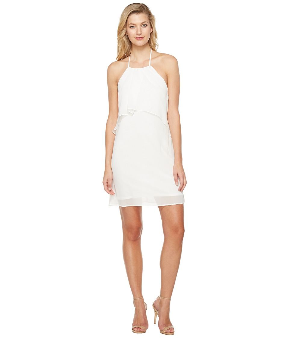 Brigitte Bailey - Kira Spaghetti Strap Layered Dress (White) Women's Dress