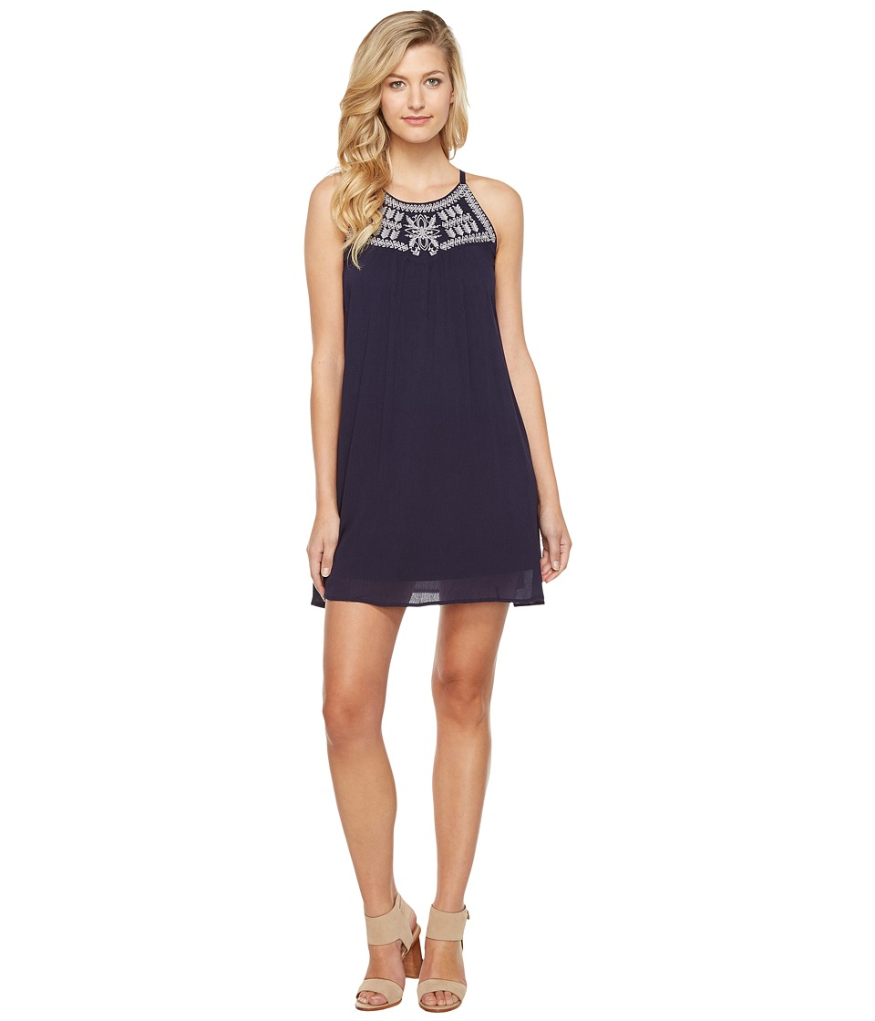 Brigitte Bailey - Sondra Embroidered Spaghetti Strap Dress (Navy) Women's Dress