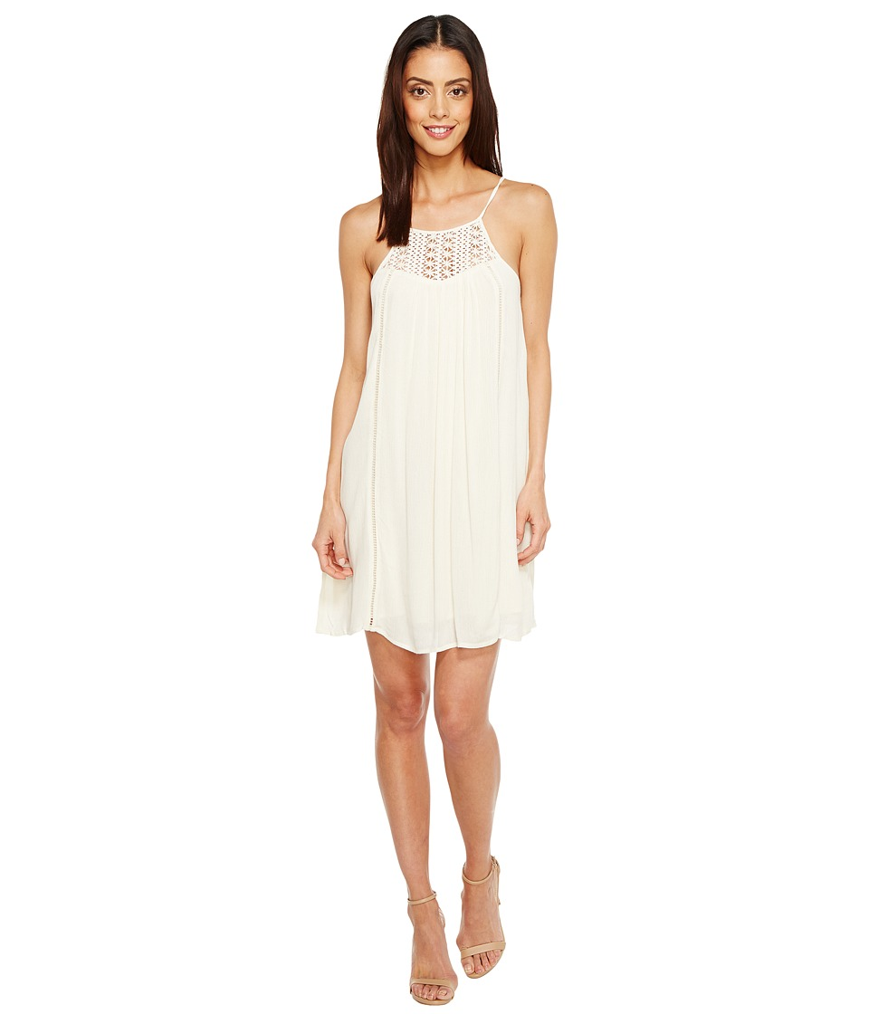 Brigitte Bailey - Janalyn Spaghetti Strap Dress with Crochet Detail (Vanilla) Women's Dress