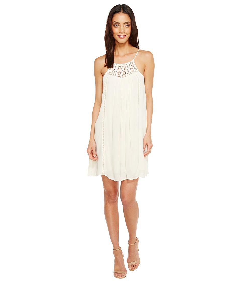 Brigitte Bailey - Janalyn Spaghetti Strap Dress with Crochet Detail (Vanilla) Women's Dress