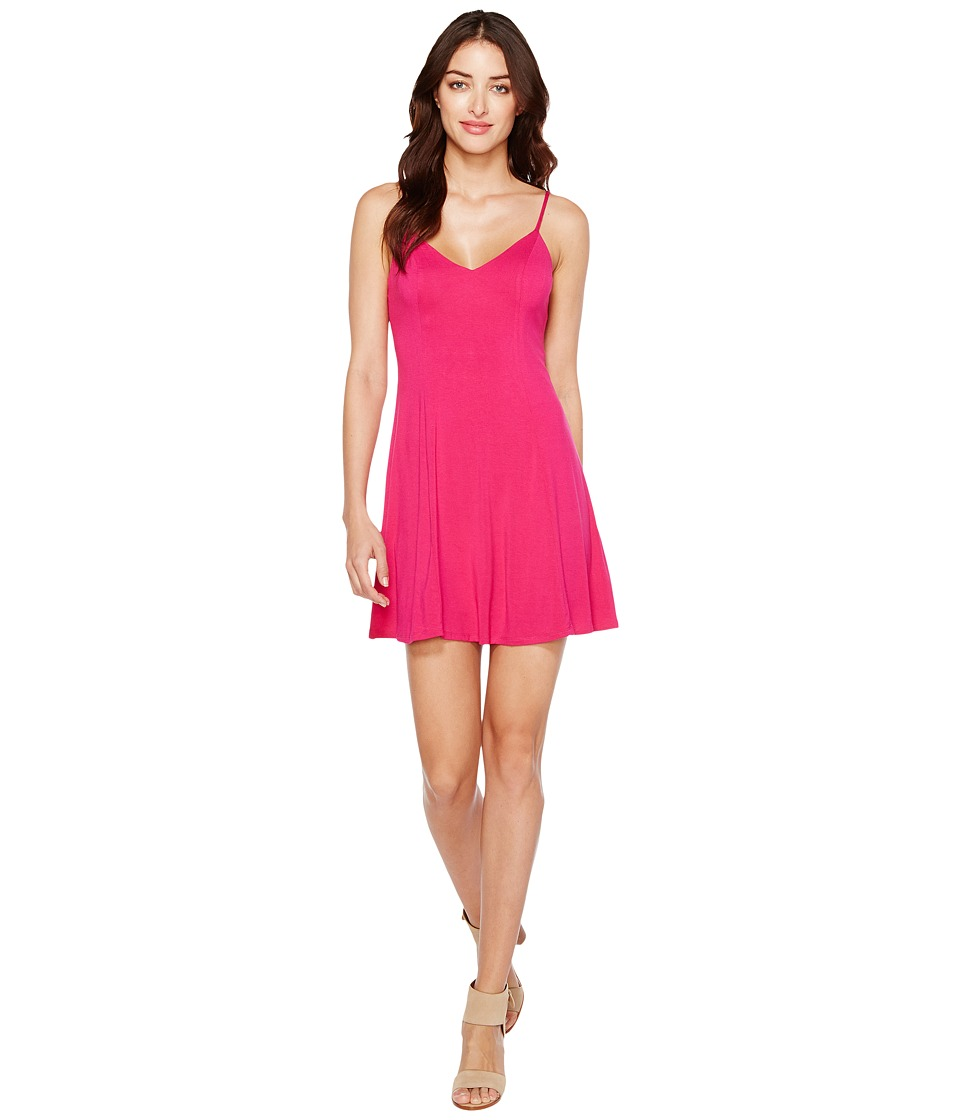 Brigitte Bailey - Aby Spaghetti Strap Dress (Hot Pink) Women's Dress