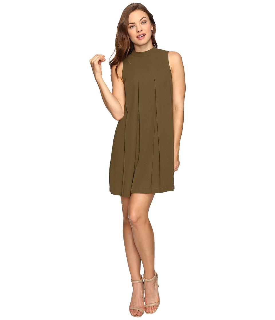 Brigitte Bailey - Kellen Sleeveless Pleated Dress (Olive) Women's Dress