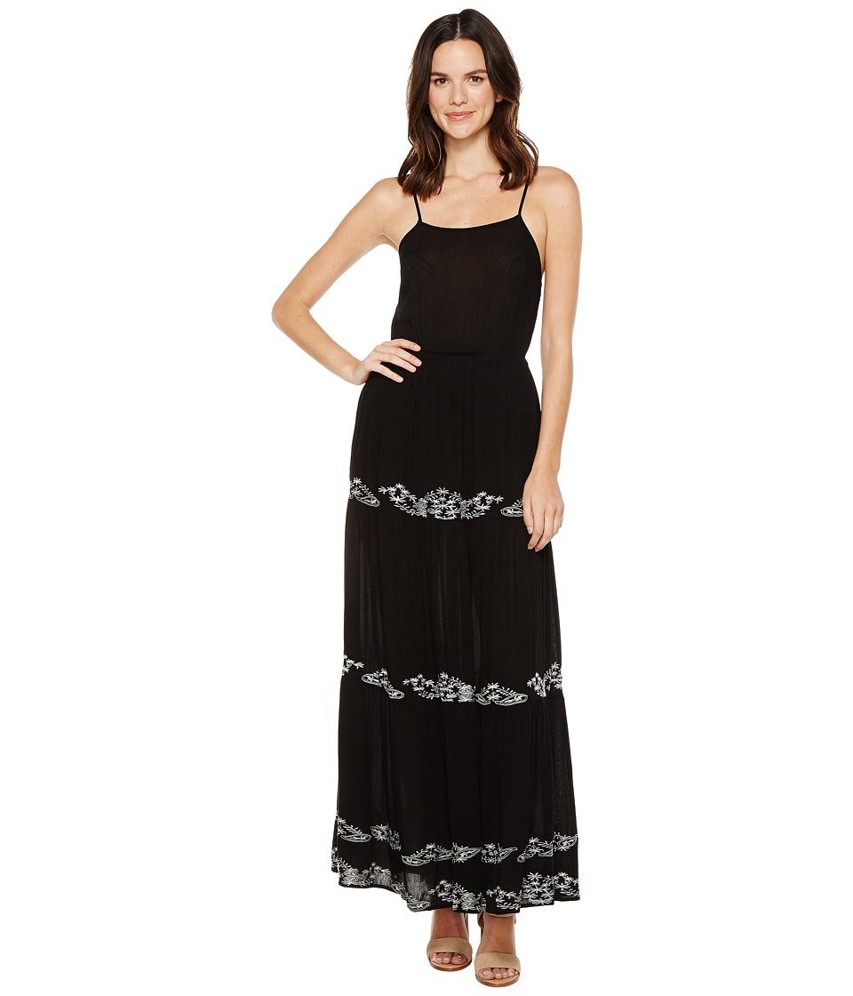 Brigitte Bailey - Blaine Maxi Dress with Embroidery (Black) Women's Dress