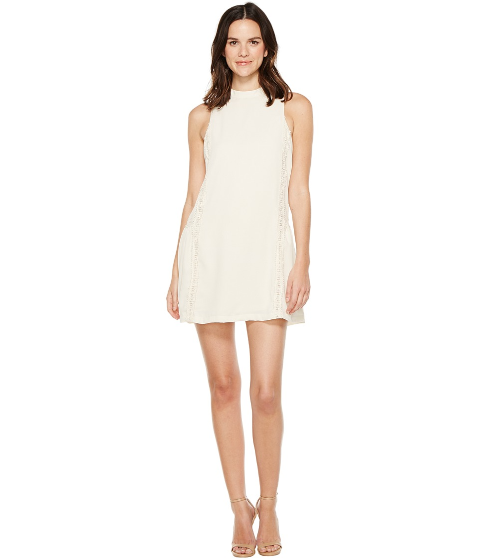 Brigitte Bailey - Adler Sleeveless Dress with Crochet Detail (Cream) Women's Dress