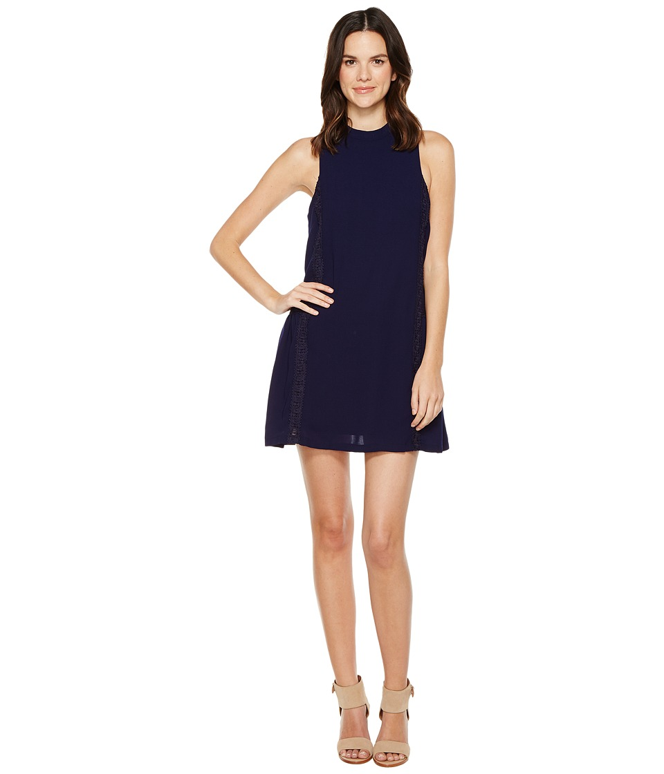 Brigitte Bailey - Adler Sleeveless Dress with Crochet Detail (Navy) Women's Dress