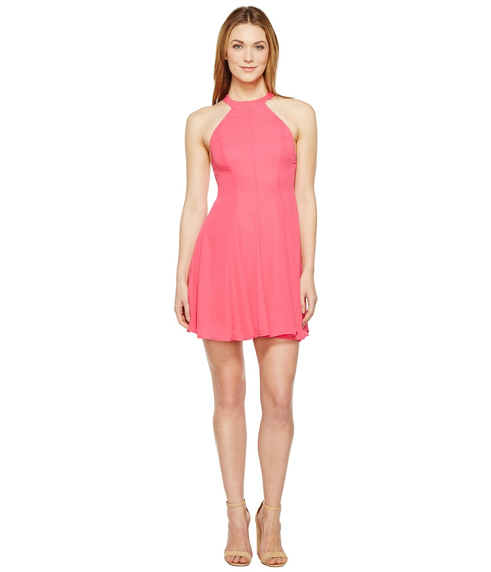 Brigitte Bailey - Akeema High Neck Dress (Pink) Women's Dress