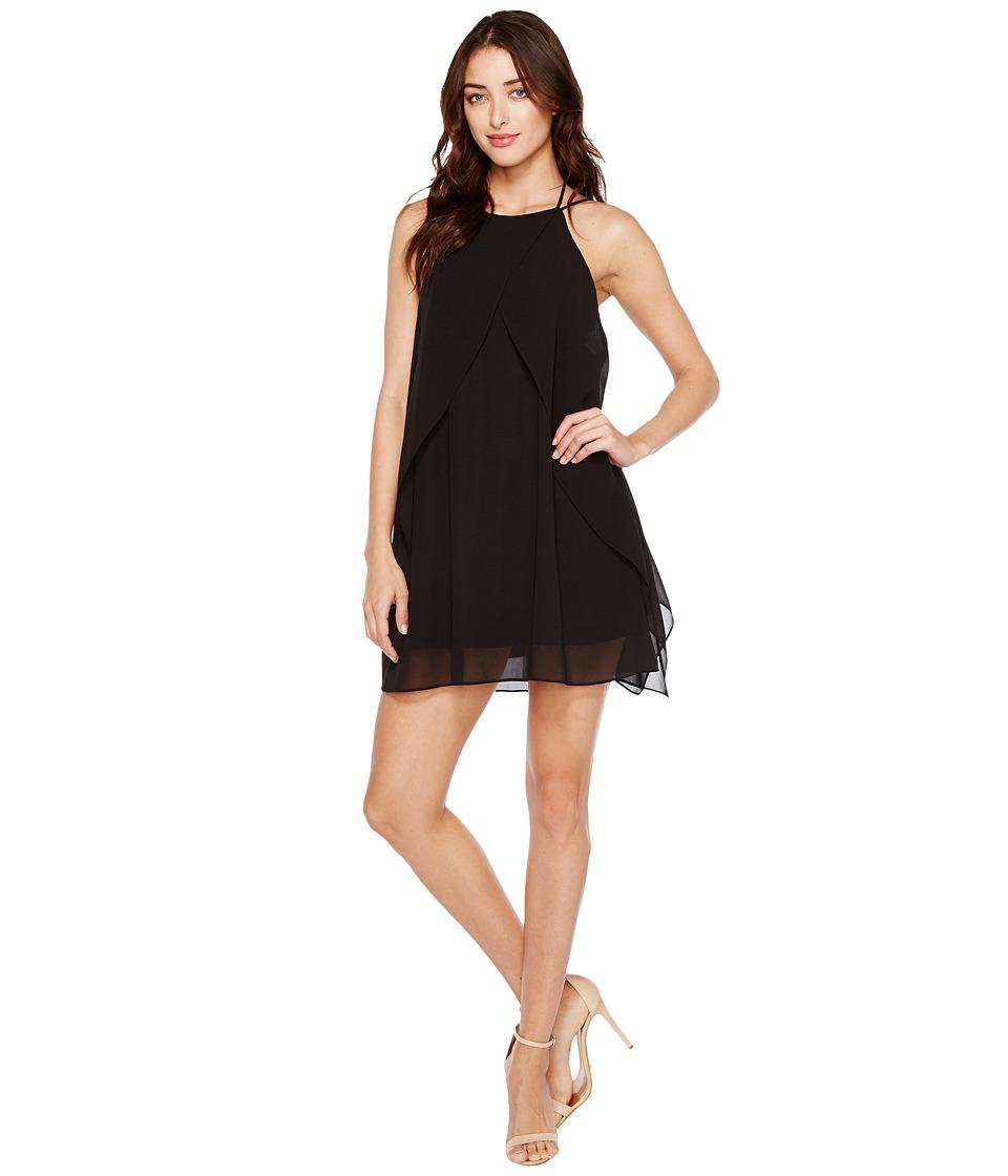 Brigitte Bailey - Cyndel Spaghetti Strap Ruffle Dress (Black) Women's Dress